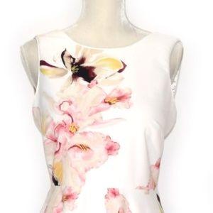 8205782af5d White House Black Market Dresses - WHBM Exploded Floral Fit   Flare Dress